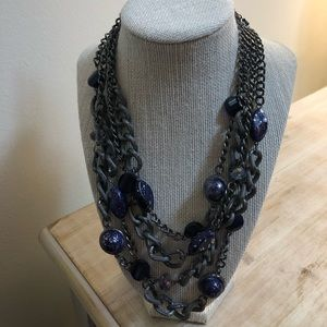 New purple chain necklace